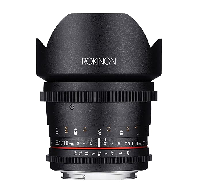 Rokinon Cine CV10M-S 10mm T3.1 Cine Wide Angle Lens for Sony Alpha Cameras