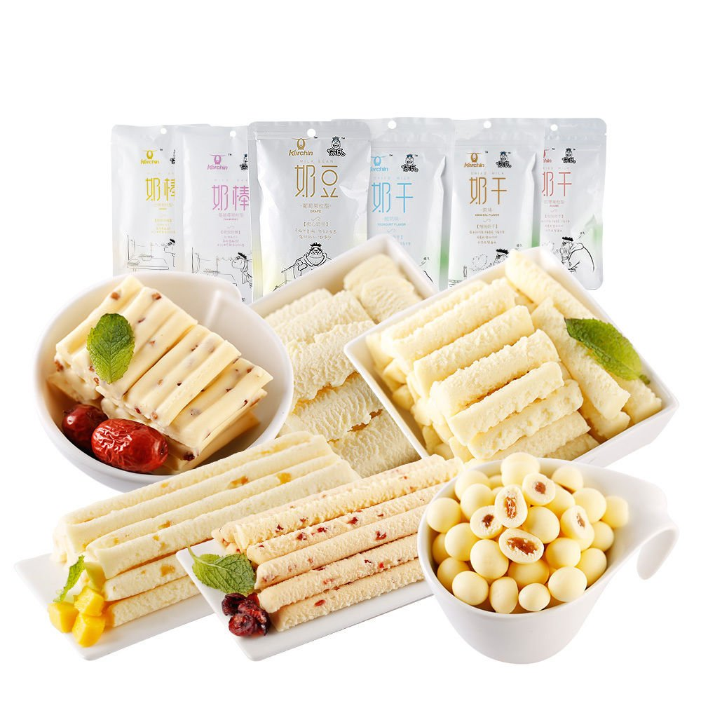 Snacks Food Inner Mongolia Specialty Cheese Milk Beans 零食小吃 科尔沁奶酪 内蒙酸奶条奶豆奶棒600g Chinese Ltd