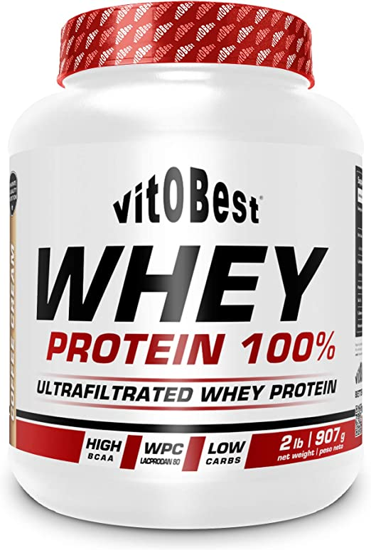 WHEY PROTEIN 100% 2 lb VAINILLA - Suplementos Alimentación y Suplementos Deportivos - Vitobest