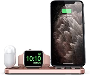 CEREECOO Portable 3 in 1 Charging Station for Apple Products Foldable Charger Stand for iWatch 1/2/3/4/5/6 Mini Charging Stand Compatible with iPhone Airpods pro/1/2 Charging Dock Holder