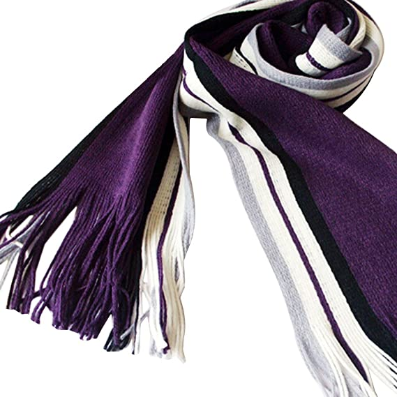 Sanwood Mens Classic Acrylic Striped Scarf