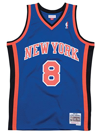 ... italy latrell sprewell new york knicks mitchell ness nba throwback  jersey blue 9aafe eeaaf e28b631b7