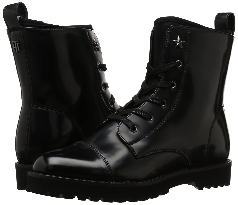 Tommy Hilfiger Women's Palmyr Combat Boot B06Y3JJGDF 8.5 B(M) US|Black/Black