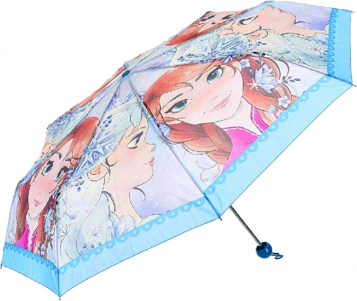 Frozen Girls Folding Umbrella Blue 92cm Official