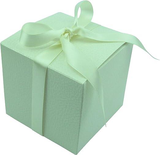 Caja regalo, 80 x 80 x 80 mm Caja de cartón, caja con lazo de ...