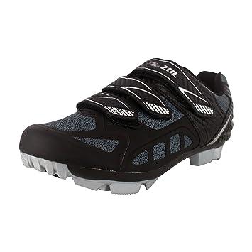 Zol Predator MTB - Zapatillas de deporte para ciclismo y bicicleta de montaña, Black with Silver: Amazon.es: Deportes y aire libre