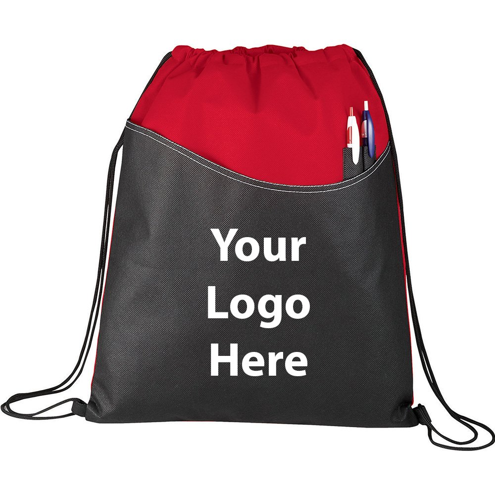 Rivers Drawstring Sportspack - 200 Quantity - $1.75 Each - PROMOTIONAL PRODUCT / BULK / BRANDED with YOUR LOGO / CUSTOMIZED by Sunrise Identity