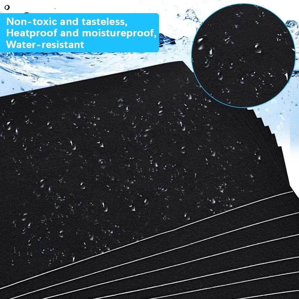 Weich und Wasserabweisend Filzstoff-Klebefolie Selbstklebend f/ür DIY-Basteln 10 Bl/ätter Filzplatten Schwarz selbstklebend Filzgleiter Mehrzweck Glatt