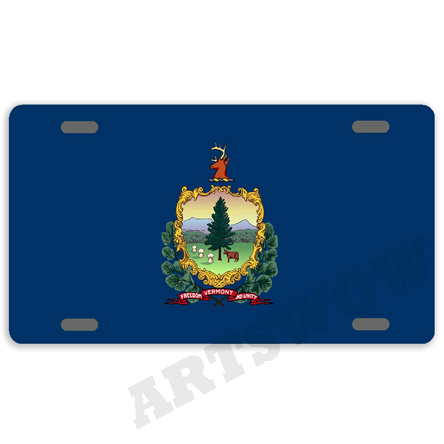 Wyoming State Flag Any Text Personalized Novelty Car License Plate