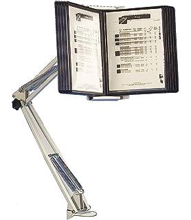 Superior - Atril con brazo articulado para exposición de documentos (con 10 carpetas transparentes A4