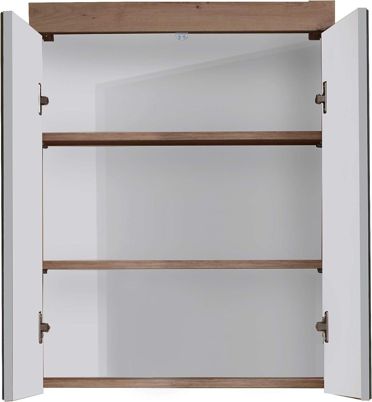Trendteam Mueble, incl. iluminación e interruptor / enchufe, Gris, 60 x 77 x 103 cm: Amazon.es: Hogar
