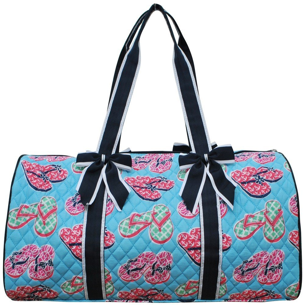 Flip Flop Summer Sandals Print NGIL Large Quilted Duffle Bag