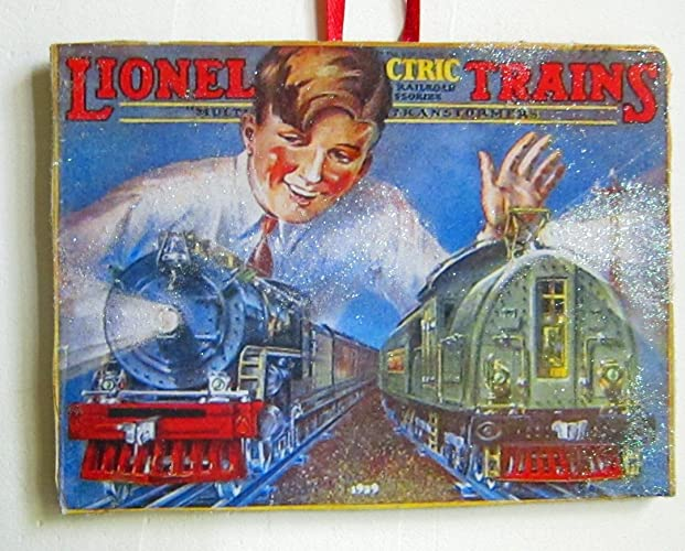 lionel train handcrafted wood christmas ornament 1929 catalog train set boys