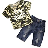 b6bfc6dc281d Samgami Baby Baby Clothes Boys Suit Daily Clothing Camouflage Tops T-Shirt  Jeans Infant Set
