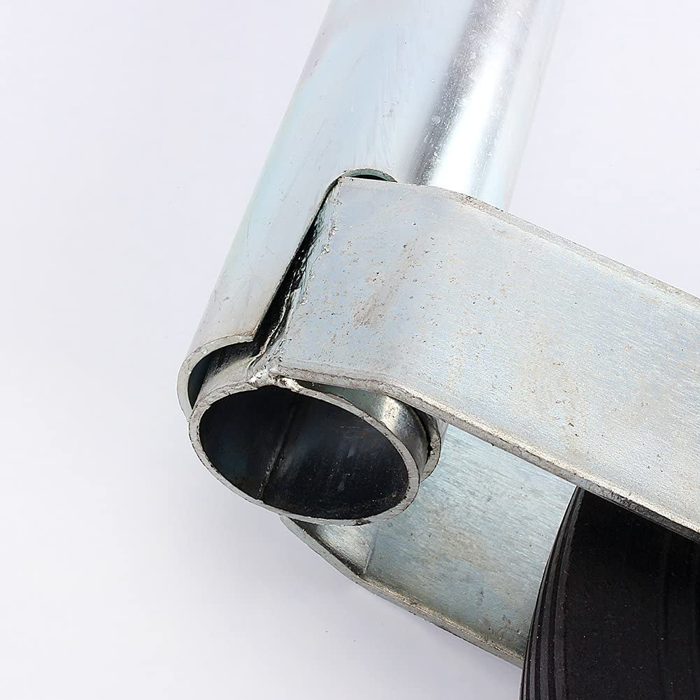 St/ützrad , St/ützrad f/ür Anh/änger aus Vollgummi 48 mm , Tragf/ähigkeit 150 kg , Mit vollst/ändig geteilter Klammer f/ür den Anh/änger