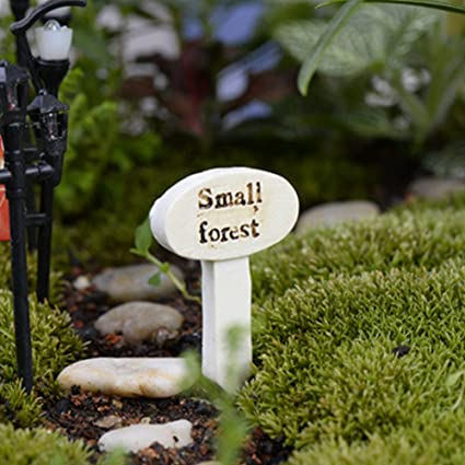 Cyclamen9 Resin Plant Labels Tags,Resin Sign Board Fairy Garden Miniature  Craft Micro Cottage Landscape