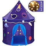 Wonder Space Children Play Tent - Premium Space Rocket Castle Pop Up Kids Playhouse, Comes with Carrying Case, Best Indoor Outdoor Gift Game Toy for Boys and Girls