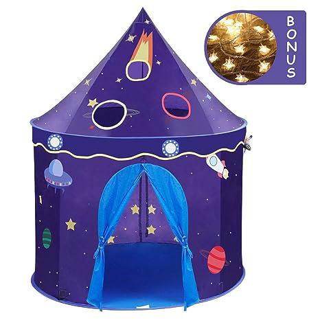 Wonder Space Children Play Tent - Premium Space Rocket Castle Pop Up Kids Playhouse Comes  sc 1 st  Amazon.com & Amazon.com: Wonder Space Children Play Tent - Premium Space Rocket ...
