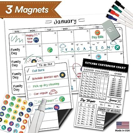 Amazon Magnetic Dry Erase Refrigerator Calendar 17 X 11