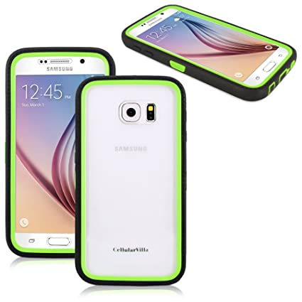 Amazon.com: Galaxy S6 Funda – cellularvilla Hybrid Armor ...