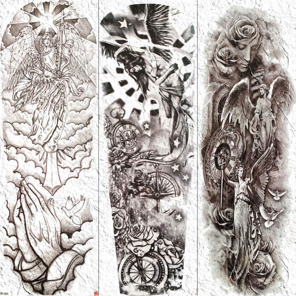 Hombres Mujeres Arte Corporal Tatuajes Temporales Brazo Completo ...