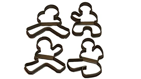 Amazon.com: Ninja Gingerbread Cookie Cutters In Four Poses ...