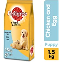 Pedigree Chicken & Eggs, Dry Dog Food (Puppy), 1.5kg