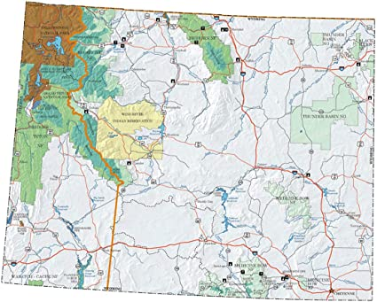 Amazon.com: Home Comforts Laminated Map - US Forest Service ...
