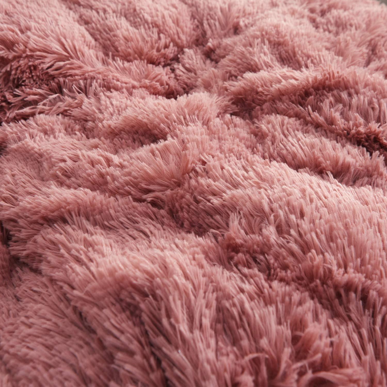 Material de la Tela Super Lujo Piel Sintética Felpa Rosa Viejo