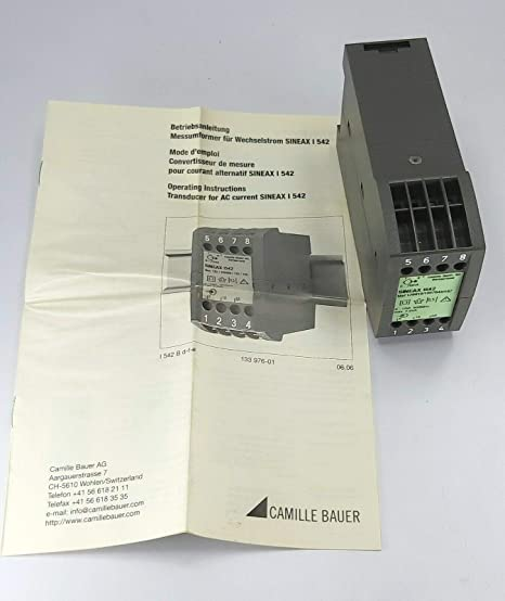 Camille Bauer AG I542 Measuring Transducer Transmitter AC current Self-Powered.