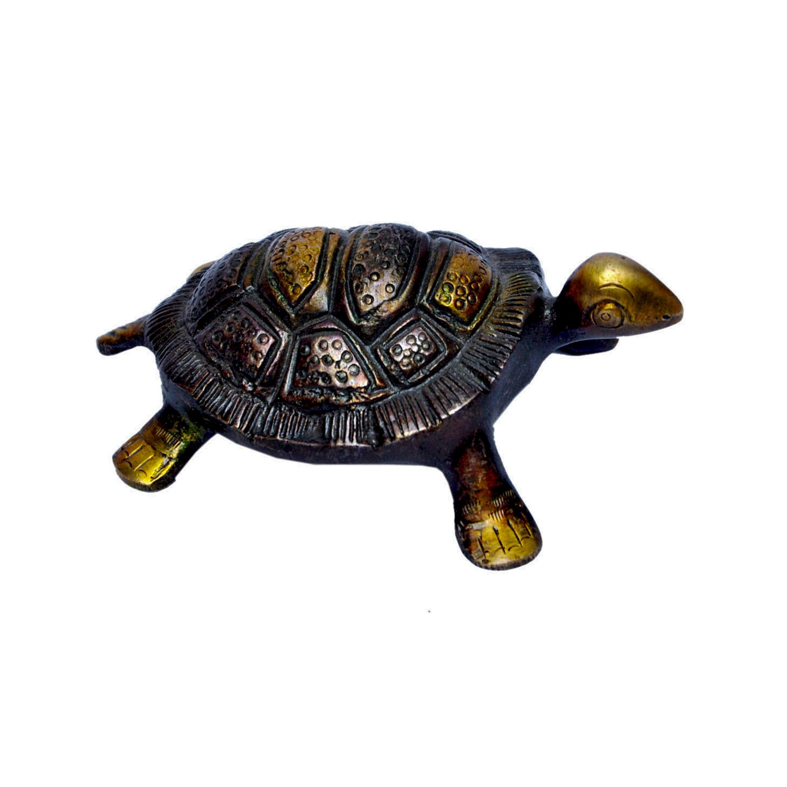 MP Crafts Brass Fengshui Turtle Tortoise Kachua Vaastu for Good Luck, Wish Fulfillment, Showpiece, Home Decor, Protection, and Long Life Longevity by MP Crafts