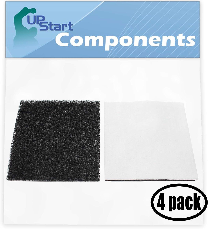 4-Pack Replacement Panasonic MC-CG902-00 Vacuum Foam Filter - Compatible Panasonic AC37KAKTZ000 Foam Filter - Also Replaces Kenmore CF-1, CF1, 20-86883, 86883, 2086883, 4370616, 8175084, 20-40321, 2040321, 40321, 610461, 11620612003, 11622313200, 11624212401