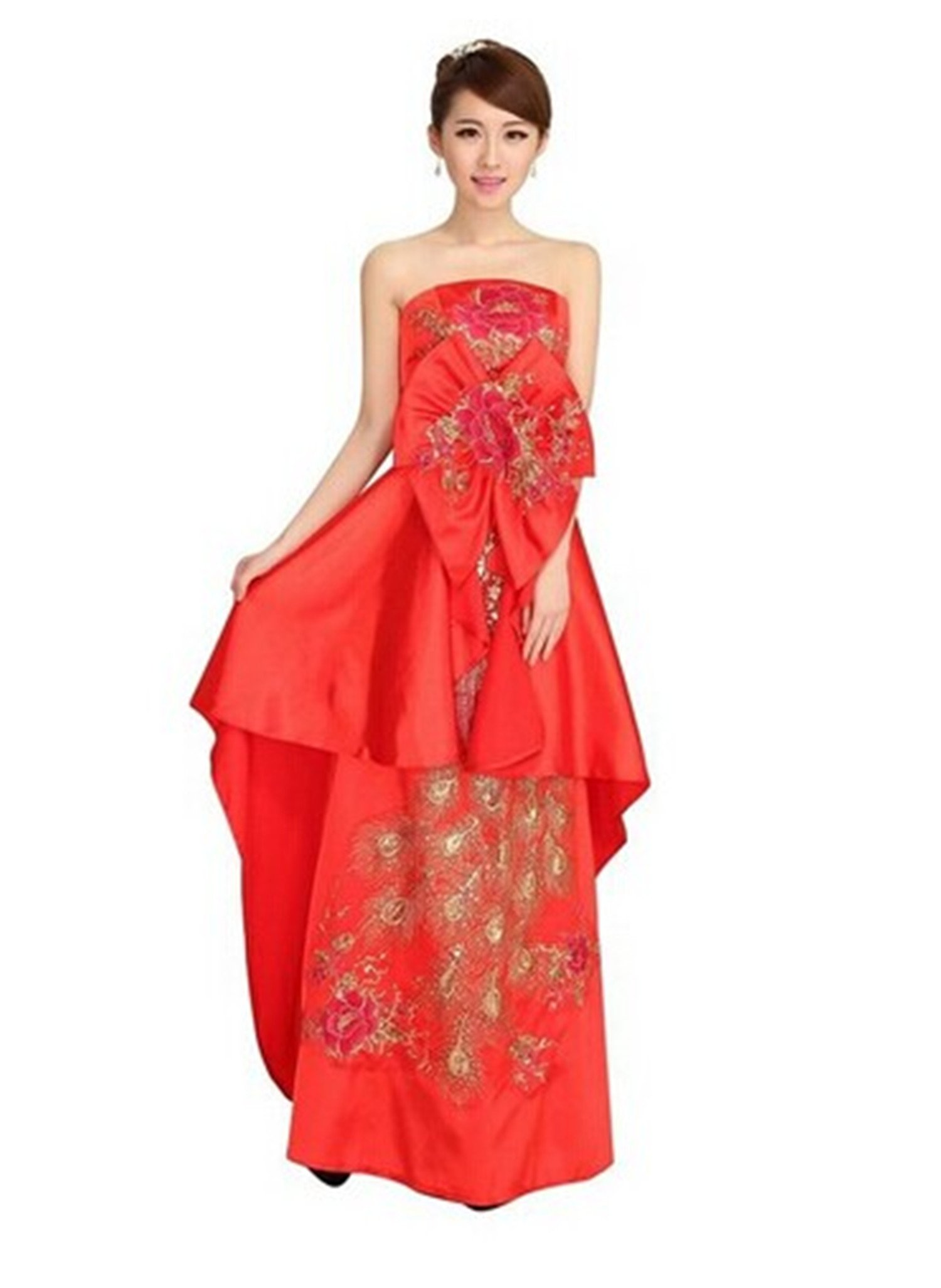 Women's new wedding dress cheongsam toast (4)