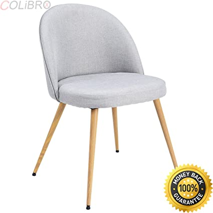 COLIBROX  Set Of 4 Fabric Cushion Seat Accent Arm Chair Dining Chair Metal  Leg