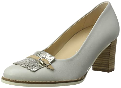 Gabor Shoes Comfort, Zapatos De Tacón Mujer, Blanco (Ice/Argento 13), 41 EU