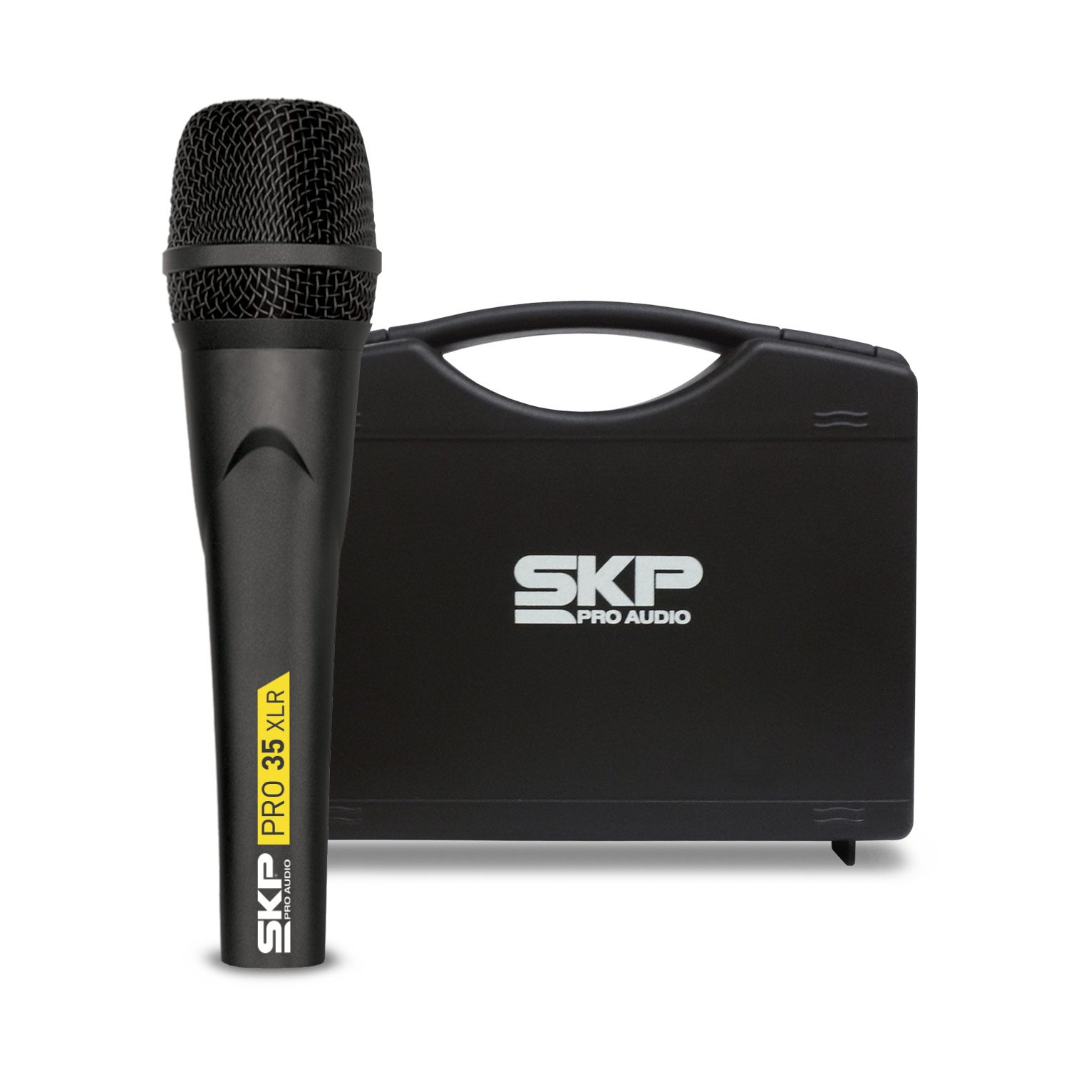 SKP PRO AUDIO PRO-35XLR Dynamic, Cardioid Microphone Made with Germany Capsule, Metallic Body XLR Cable 17ft - (5m) Plastic Case Included by SKP Pro Audio