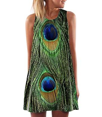 d314cfca8b0 RARITYUS Women s Fashion Sleeveless Floral Print Round Neck Summer ...