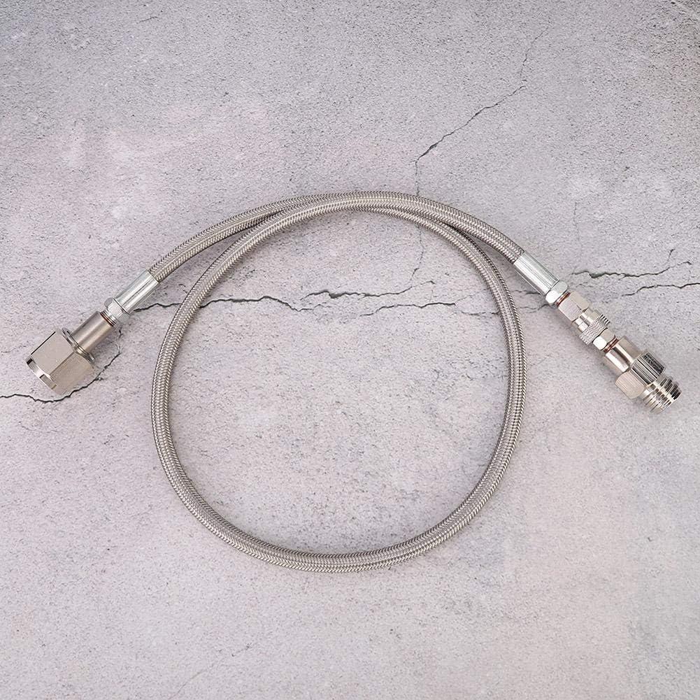 Qinlorgon Tubo Flessibile per Soda di CO2, Kit Adattatore per Tubo Flessibile per CO2 ad Alta Pressione G1/2, Adattatore per Tubo Flessibile di Soda(Argento) Argento