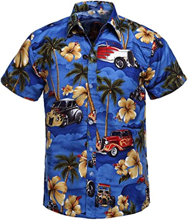 Magiyard - Camisa de Playa, Camisa con Flores, Camisa ...