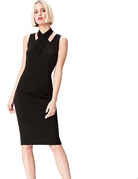FIND 13646 Vestido Fiesta Mujer, Negro (Black), 36 (Talla del Fabricante