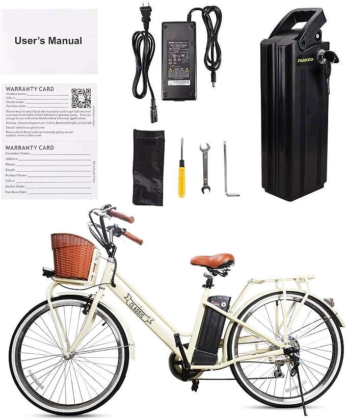 BRIGHT GG NAKTO Classic - Bicicleta eléctrica (26 Pulgadas, 250 W ...