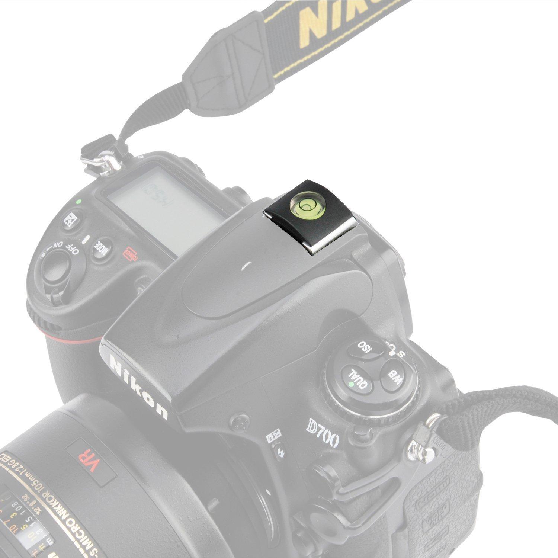 CAM-ULATA 2 in 1 Hot Shoe Blitzschuh Cover Schutz DSLR SLR Kamera Blitzschuhabdeckung Mit Wasserwaage Dosenlibelle für Canon Nikon Panasonic Fujifilm Olympus Pentax Sigma, 9 Stück
