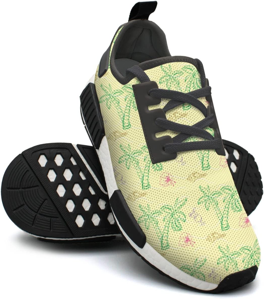 Sea Shell Palm Tree Womens Exclusive Lightweight Volleyball Sneakers Gym Outdoor Tennis Shoes