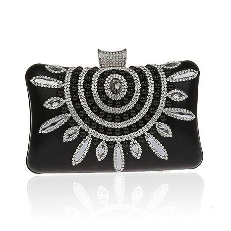 968918b89ac EKDJFG Design Women Evening Bags Pearls Beaded Wedding Clutch Crystal Chain  Female Banquet Purse Black