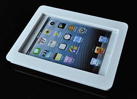 amazoncom ipad mini 123 white acrylic security antitheft enclosure with wall mount kit computers u0026 accessories