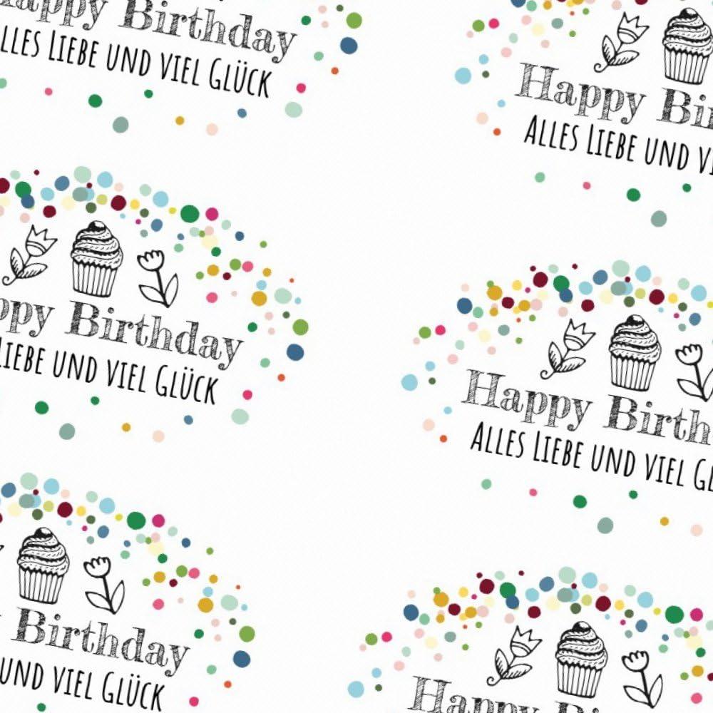 20 Aufkleber Geburtstag Happy Birthday Etikett Sticker Deko Geschenk bunt