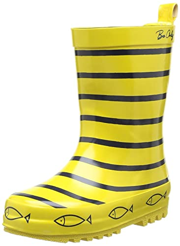 Be Only Big Boys Timouss Bleu Jaune Printed Wellies Yellow Size 24