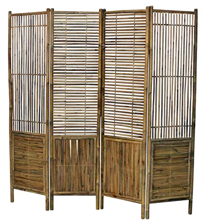 Master Garden Products BSC-98 Self Standing Divider Bamboo Screen, 72 x 72  Tan