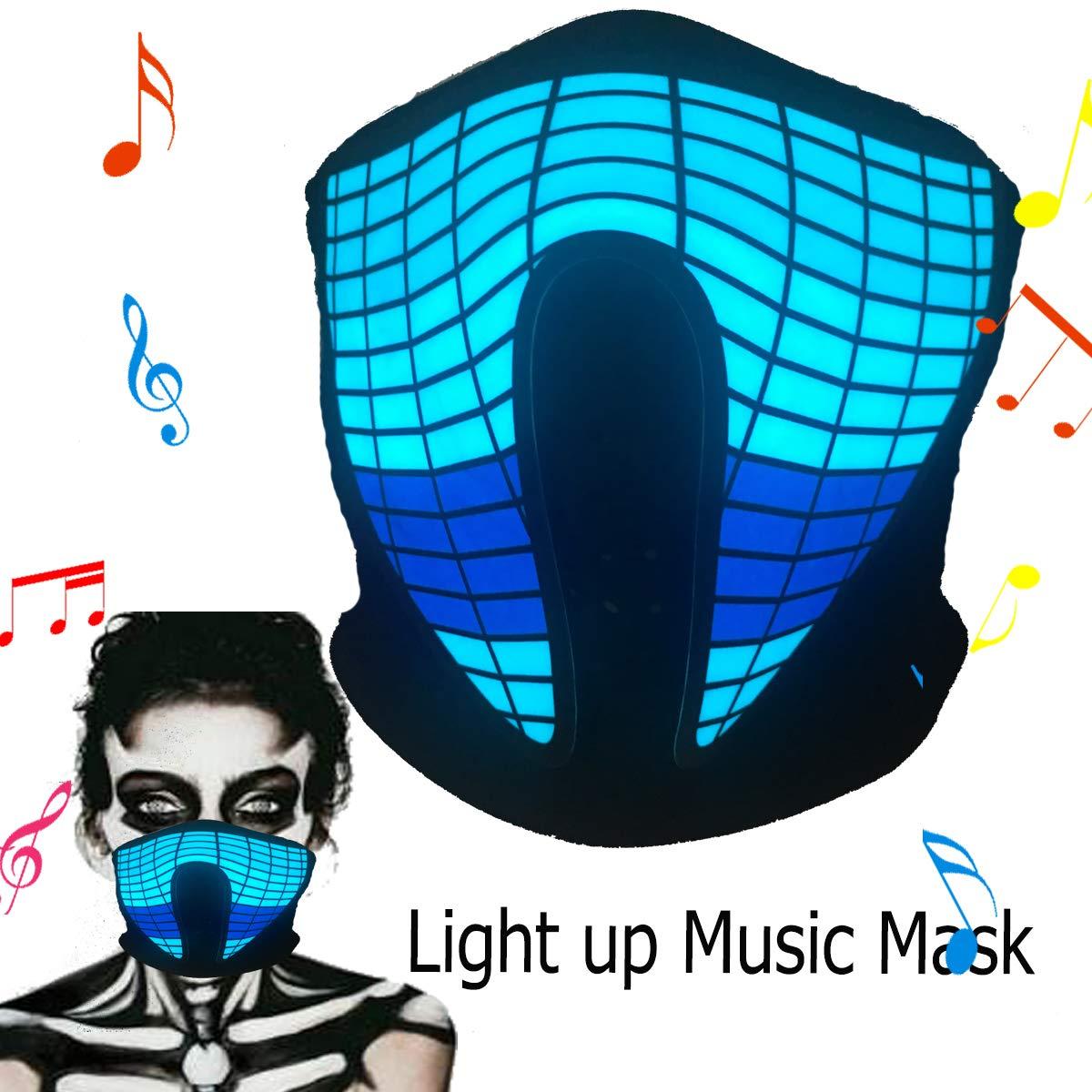 flashingworld Shineworld 音楽LEDパーティーマスク サウンドアクティブ ダンス/ライディング/スケート/パーティー/フェスティバル (クライザーマスク)   B07GLDQS9R