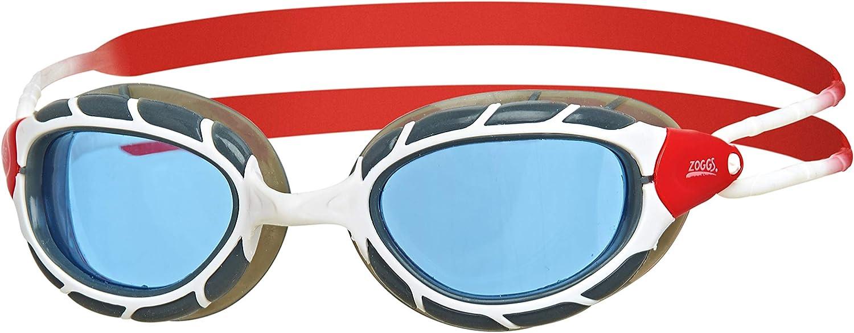Zoggs Predator Next Gen - Gafas de natación (protección UV antiniebla, antifugas, triatlón), Color Blanco y Negro y Azul